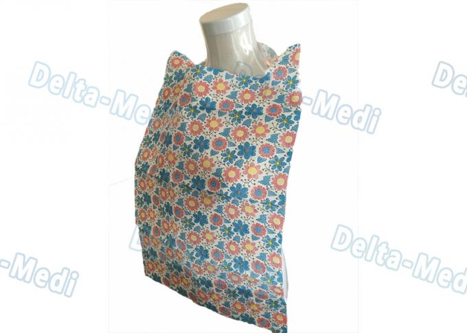 Patient Disposable Paper Bibs With Pocket , 2 Ply / 3 Ply Custom Printed Disposable Bibs