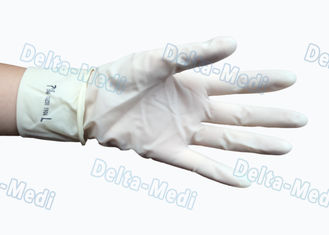 China Sterile Latex Disposable Surgical Gloves Powder Free White Color For Hospital supplier