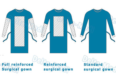 Delta Medi Disposable Surgeon Gown , Reinforcement Protective Disposable Operating Gowns