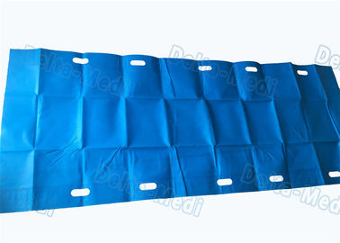 China Blue Color Customized Surgical Patient Transfer Slide Sheets With Slot Holes supplier