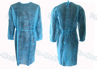 China Medical Hospital Isolation Gowns , Patient Surgical Disposable Waterproof Gowns supplier