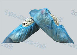 China PP / SMS Blue Non Woven Disposable Surgical Shoe Covers For Hospital / Laboratory supplier