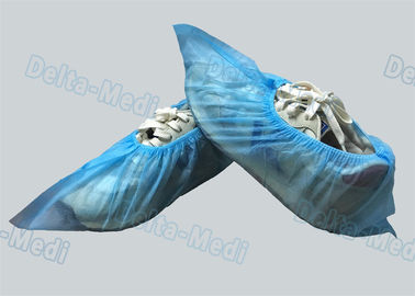 PP / SMS Blue Non Woven Disposable Surgical Shoe Covers For Hospital / Laboratory