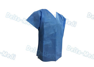 Short Sleeve Hospital Scrub Suits , V Shape Collar Doctors Scrub Suit