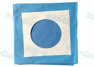 China Blue Surgery Sterile Disposable Drapes With Circle Hole / Adhesive Tape supplier