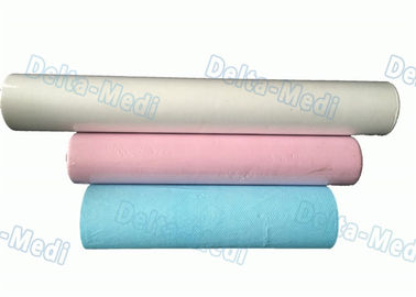 Laminated Film Medical Bed Paper Rolls , Beauty Salon Disposable Bed Roll