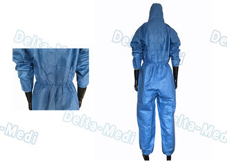 Blue Film Breathable Disposable Coveralls Working Uniform S - XXL For Industry