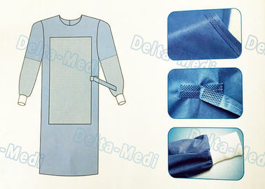 China Tie On Disposable Sterile Gowns , Disposable Operating Gowns Wood Pulp Spunlace Fabric supplier
