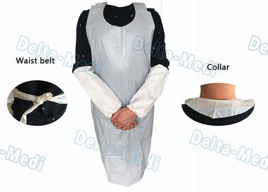 China Operating Rooms White Disposable Aprons , Dust Proof Plastic Throw Away Aprons supplier