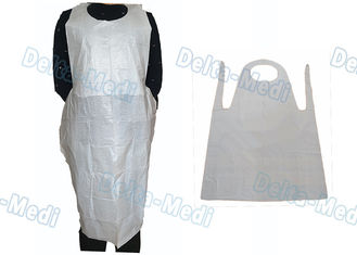 China Adult Medical Plastic Products Waterproof LDPE / HDPE Apron For Food Industry supplier