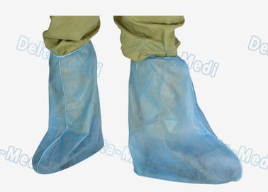 China PP Polypropylene Disposable Shoe Covers Anti Dust Above Ankle To Knee supplier