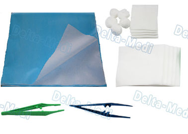 Sterile Dressing Wound Surgery Disposable Surgical Kits With Hand Towel / Plastic Forceps
