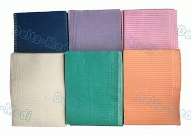 China Multi Color Paper PE Disposable Dental Bibs Pad For Hospital / Dental Clinic factory