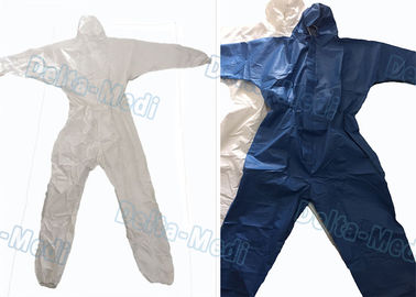 Breathable SF Non Woven Disposable Protective Coveralls Ealstic Waist Multi Size
