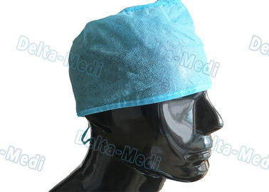 Blue PP Handmade Disposable Surgical Caps , Medical Doctor Scrub Caps 15 - 35gsm