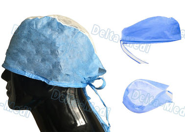 Dustproof Breathable Disposable Surgical Caps Non Woven Customized Color
