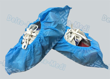 Non Woven Non Skid Disposable Surgical Shoe Covers Blue Color 15 x 40cm