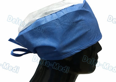 Doctor' S Disposable Medical Caps With White Crown , Breathable Disposable Operating Room Hats