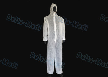 SMS Disposable Protective Clothing , Food Industry Disposable Waterproof Coveralls