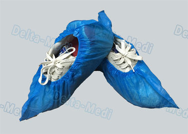 Personal Care Breathable Disposable Surgical Shoe Covers CPE / PE Material