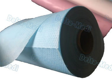 Perforated Hospital Bed Sheets Disposable Examination Table Cover Roll PE Coated