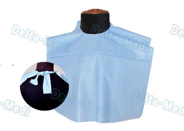 China 3 Ply Colorful Patient Disposable Dental Bibs Waterproof With Tie On factory