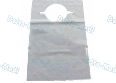 China 2 Ply / 3 Ply Waterproof Dental Bibs , Disposable Patient Bibs With Ultrasonic Seam Sewing factory
