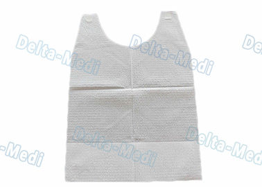 China Customized Disposable Dental Bibs / Apron White Color Easy To Wear factory