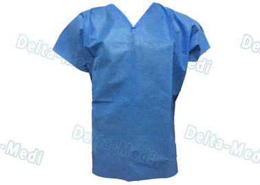 China Short Sleeve Hospital Scrub Suits , V Shape Collar Doctors Scrub Suit factory