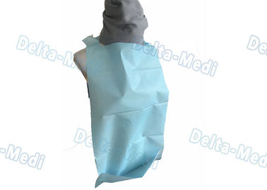 China Patient Disposable Paper Bibs With Pocket , 2 Ply / 3 Ply Custom Printed Disposable Bibs factory