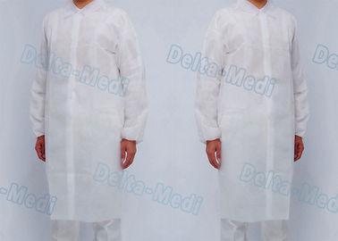 Hospital Non Woven Disposable Isolation Gowns Visitor Coats With Button