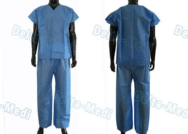 China Dustproof Non Toxic Medical Scrub Suit , Breathable Surgical Scrub Suits factory