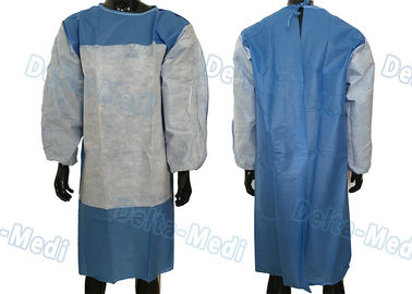 Delta Disposable Hospital Gowns , SMS Fabric Reinforced Surgical Gown Fluid Resistant at critical area