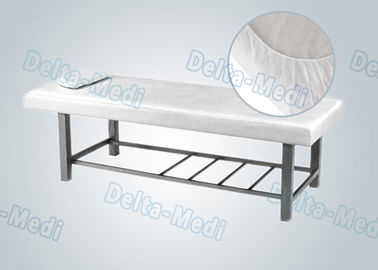 Flexible Non Woven Medical Disposable Bed Sheets / Cover Non Toxic With Elastic