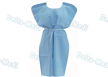 Sterile SMS / PP Disposable Protective Apparel Patient Gown Without Sleeves