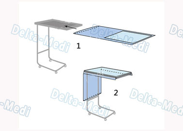 China Hospital Surgical Mayo Stand Cover Keep Mayo Stand Sterile With Absorbent Spunlace Reinforced factory