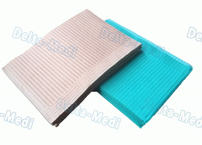 Class I Disposable Dental Bibs Waterproof Square Shape 33 * 45cm For Patient
