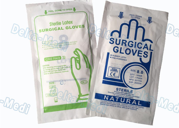Harmless Disposable Medical Gloves , Blue Color Vinyl Exam Gloves With Good Feeling
