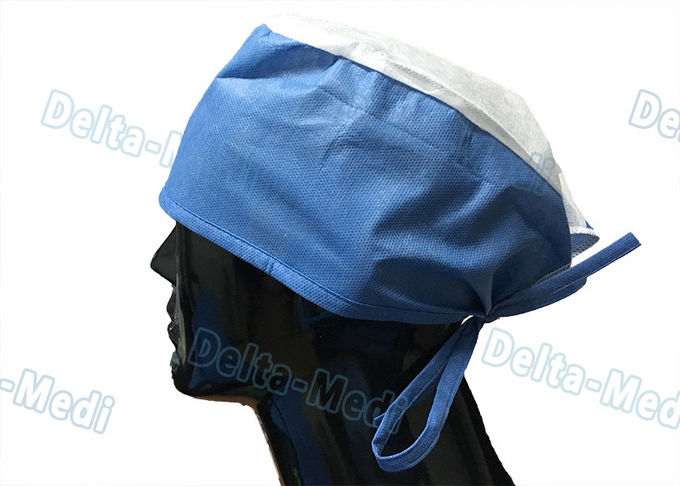 Disposable White Elastic Surgical Beard Cover , 10gsm PP Disposable Beard Net