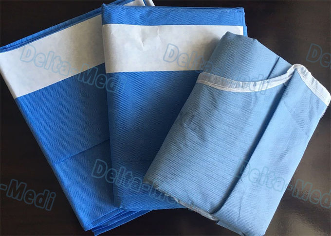 Spine Surgery Disposable Surgical Drapes With Liquid Collection Pouch And Insice Film