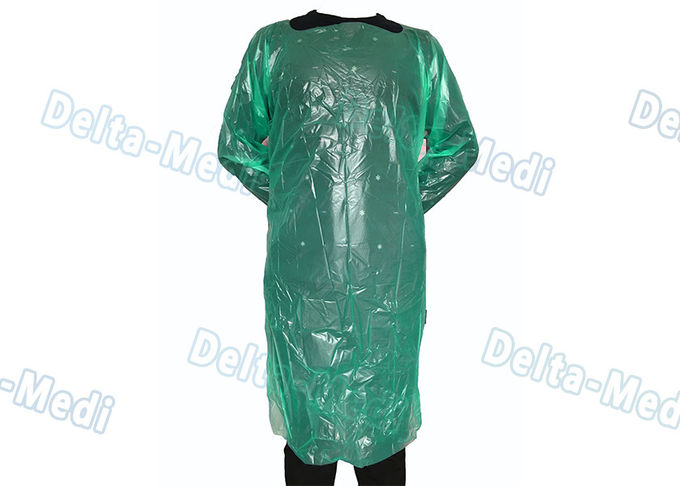Adult Medical Plastic Products Waterproof LDPE / HDPE Apron For Food Industry