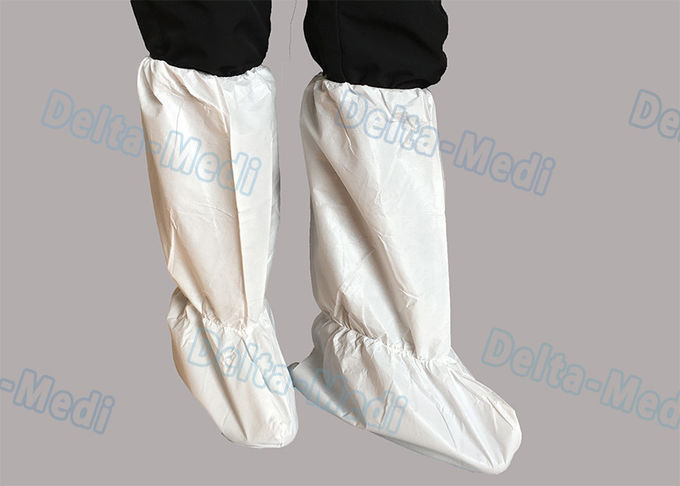 PP Polypropylene Disposable Shoe Covers Anti Dust Above Ankle To Knee